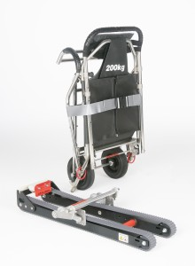 Compact 2 evacuation chair with detachable tracks
